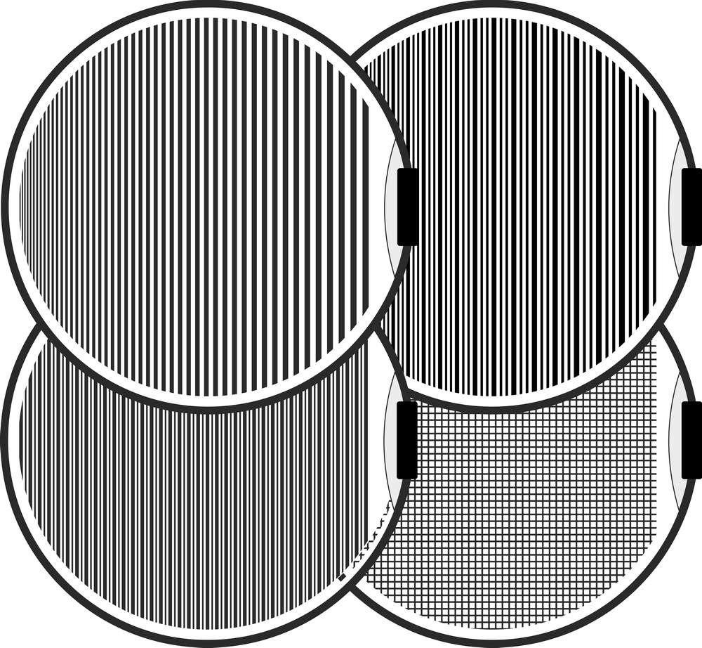 Streifensegel zur Beurteilung von Oberflächen